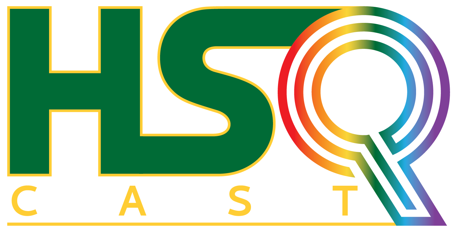 HSQ logo in humboldt green & gold and rainbow colors